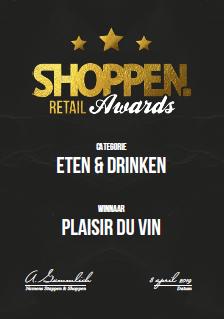 plaisir du vin shoppen retail awards